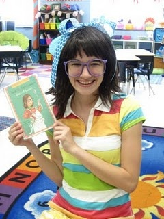 Cute idea - have an older student dress up like a book character and visit your classroom.