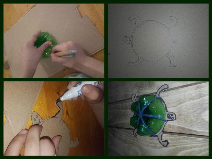 Broască țestoasă – DIY din materiale reciclate – La Mihu
