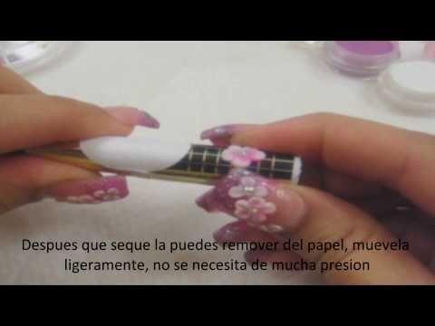 Como hacer flores acrilicas en 3D para pegar sobre tus uñas o adornar ot...