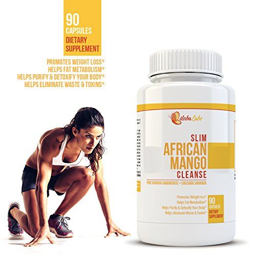 Slim African Mango Cleanse – #1 Best Recommended Weight Loss & Detox – Dietary Supplement – Natural African Mango Extract – Burn Fat Rapidly – Appetite Suppressant – Supports Digestion – 1600 Mg – 90 Capsules – Pure Cleanse with Irvingia Gabonensis, Cascara Sagrada, Fennel Seed, Ginger and Much More! | How To Lose Fat Tummy
