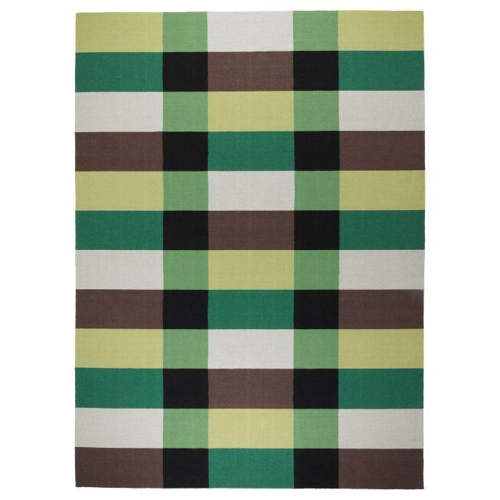STOCKHOLM Covor ţesătură plată 250x350 cm verde