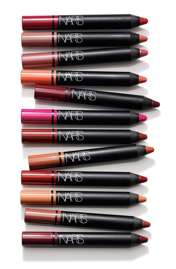 High-impact color with a rich satin finish | Nars satin lip pencil.