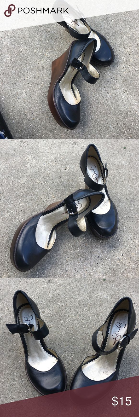 New Jessica Simpson Mary Jane Heels - Sz 7.5 New Jessica Simpson Mary Jane Heels - Sz 7.5 Jessica Simpson Shoes Wedges