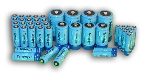Image of Combo: 44pcs Tenergy NiMH Rechargeable Batteries (24AA/12AAA/4C/4D)