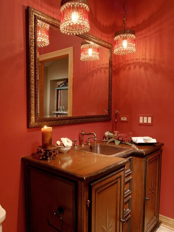 Originalbathroom Lighting Lonnie Unger Red Bathrooms