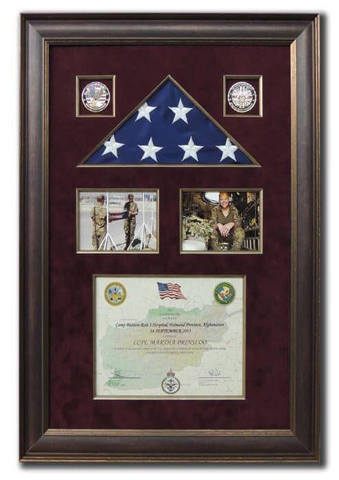 Framing Samples - Afghanistan Flag and medals