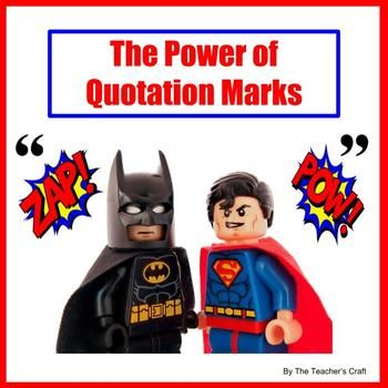 This informative, engaging, humorous package combines a 16 page superhero themed PowerPoint lesson and 14 quotation punctuation practice worksheets which focus on conversations about real superheroes, world records, and amazing animals and insects. The PowerPoint lesson begins by developing an understanding of the power