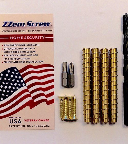 Security reinforcing weak points of your doors help prevent forced enter with ZZem Screw  sc 1 st  Pinterest & 11 best ZZem Screw-Stripped screw hole repair kit for door hinge ...