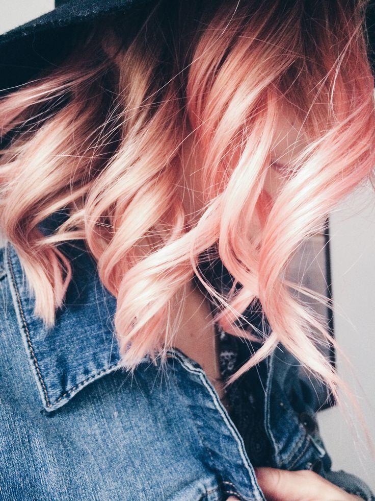vanja wikström hår peach hair pastel hair