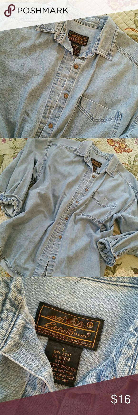 🌻 Vintage Eddie Bauer denim shirt Ladies denim shirt Eddie Bauer Tops