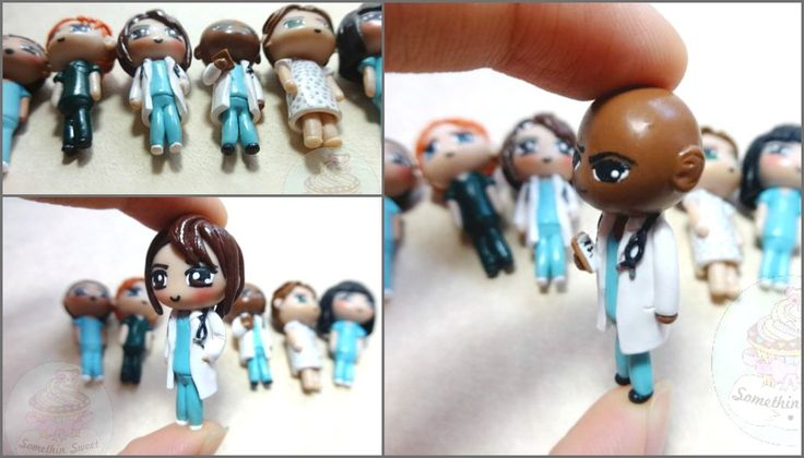 Doctor and Nurse Figurines polymer clay by SomethinSweet.deviantart.com on @DeviantArt
