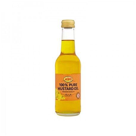 KTC - Huile de moutarde 100% pure - 100% Pure Mustard Oil  Huile de moutarde 100% pure. Qualité supérieure. Favorise la croissance des cheveux. Nourrissante, stimulante. Utilisée pour les massages capillaires et cutanés Conditionnement : bouteille en verre. NON COMESTIBLE. POUR UN USAGE EXTERNE UNIQUEMENT.