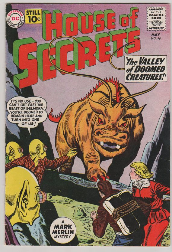 House of Secrets V1 44.  VF.  May 1961.  DC by RubbersuitStudios #houseofsecrets #horrorcomics
