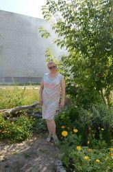 мое платье из Дивы-Миссисипи. на мой 52 размер ушло почти 500 грамм