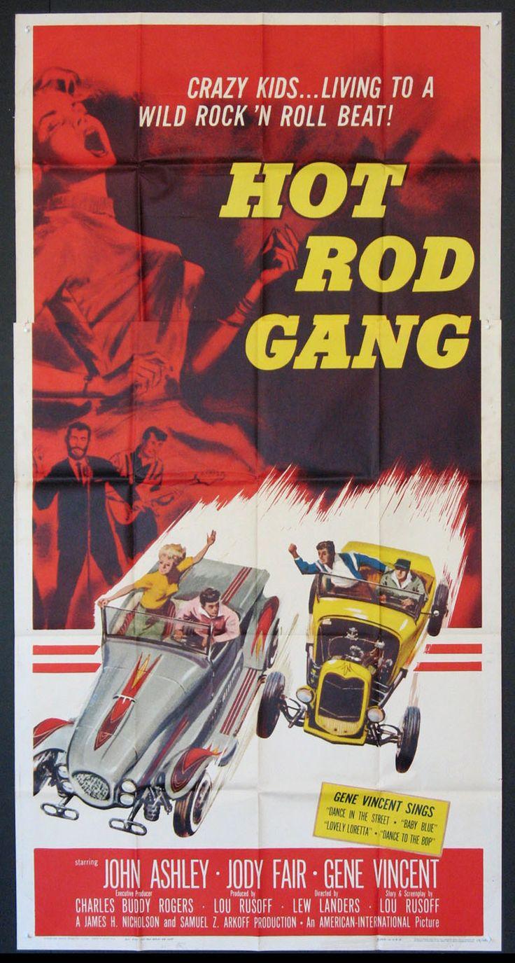 Hot rod gang 1958 3 sheet size 41x81 original movie poster