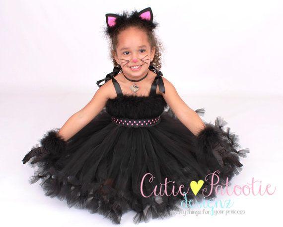 Petti Tutu Dress  Halloween Cat or Kitten door Cutiepatootiedesignz, $95.00
