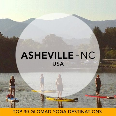 Glomad's 'Top 30 Global Yoga Destinations' No.23 – Ashville, NC, USA  Escape to the tree-carpeted mountains, perched lakes and a city abuzz with creativity and music festivals. With Yoga on tap 7 days/wk, pack a mat for Ashville to discover your next Yoga Experience... named the most vegetarian-friendly small city by People for the Ethical Treatment of Animals (Thanks Yoga Journal). #glomad #USA #Ashville #northcarolina #yogatravel #yoga