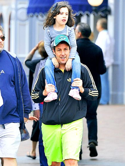 Adam Sandler with his daughter Sadie