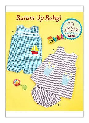 Kwik Sew SEWING PATTERN K220 To Make Baby Overalls, Dress & Panties 0-24 Months