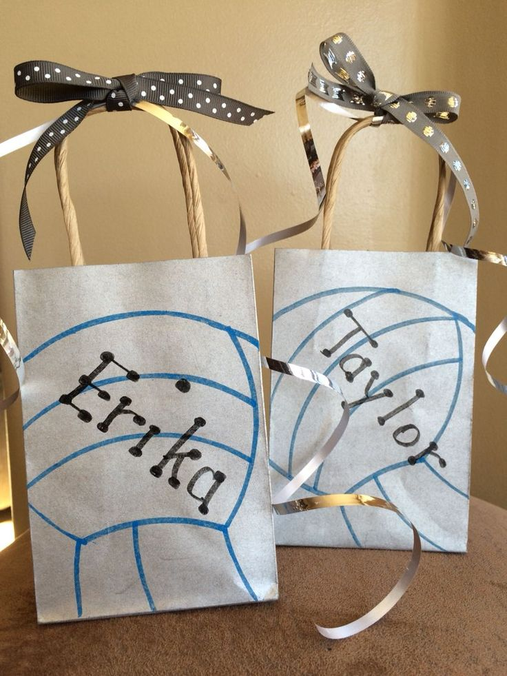 Volleyball gift bags