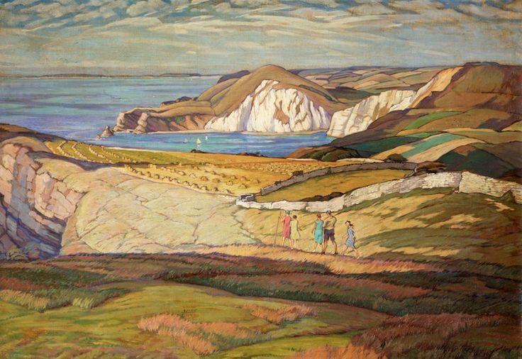 A Dorset Landscape or Near Worbarrow Bay Dorset by Leslie Moffat Ward