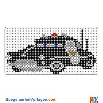 Sheriff - Cars Bügelperlen Vorlage