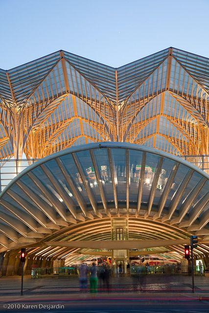 Lisbon Orient Station - transportation hub - Lisbon, Portugal