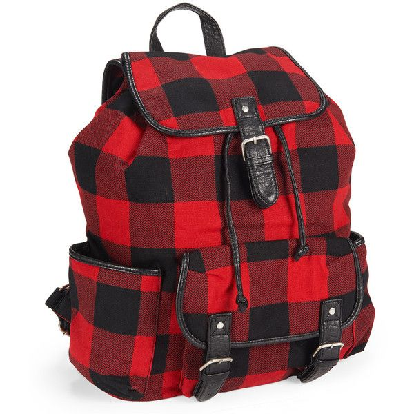 Aeropostale Buffalo Check Backpack ($35) ? liked on Polyvore ...