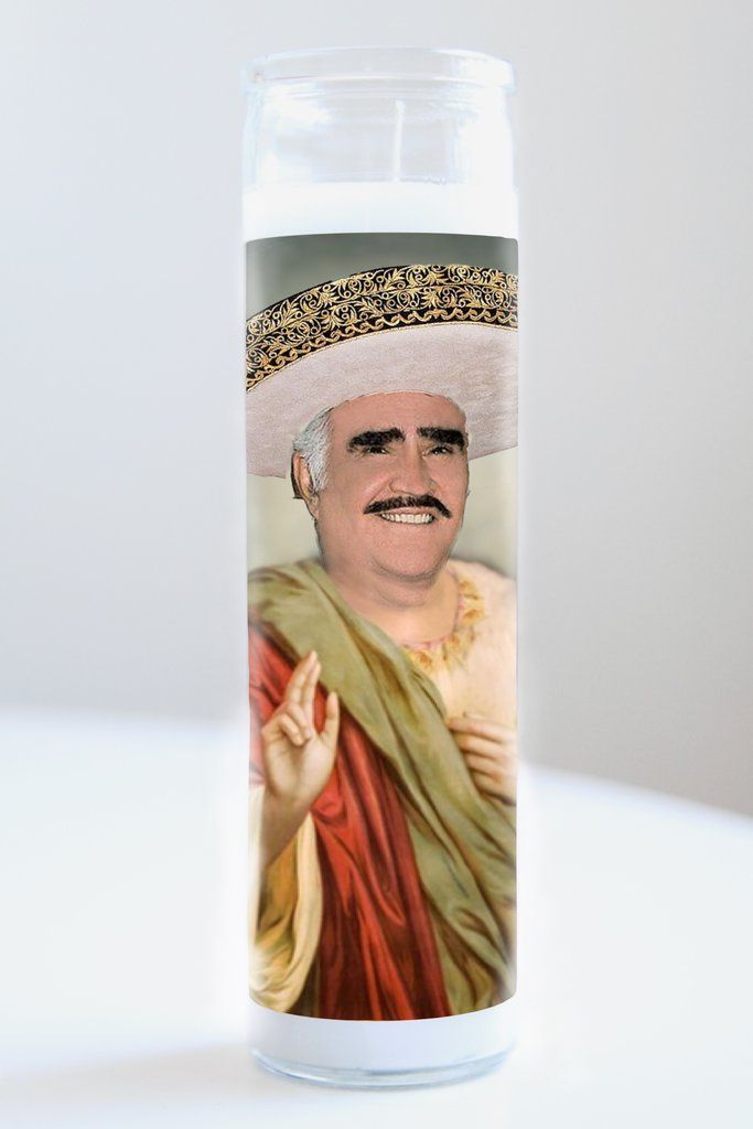 "Vincente Fernandez featured on Illuminidol's prayer candle. The best way to bless any Chente disciple!  Texas Made 8"" height Unscented Ships anywhere in the US via Priority Mail Intl. Shipping? Contact info@illuminidol.com Custom and Wholesale options  #vincente #fernandez #chente #bolero #ranchera #mariachi #music #singer #mexico #mexican #popular #famous #celebrities #love #pray #candles #art #beautiful #memes #blessed #party #funny #humor #new #decor #gift #shopping #design #texas…"