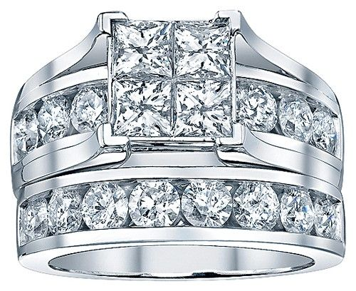 I love this ring. I just want to replace the Quad with a single princess cut diamond. Beautiful! Two Hearts Quad Bridal Set, 3 ct. wt.