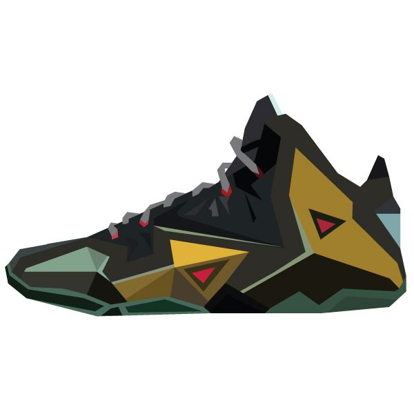 "Illustration of the Lebron 11's ""Parachute Gold."" #sneakers"