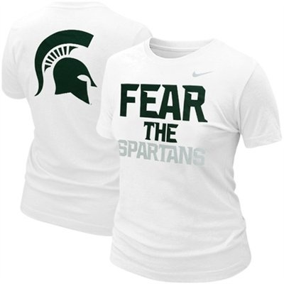 Nike Michigan State Spartans Ladies Fear the Spartans T-Shirt - White