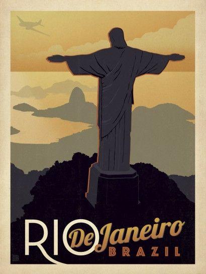 Cristo Redentor - Anderson Design Group | Crie seu quadro com essa imagem https://www.onthewall.com.br/vintage/cristo-redentor #quadro #canvas #moldura