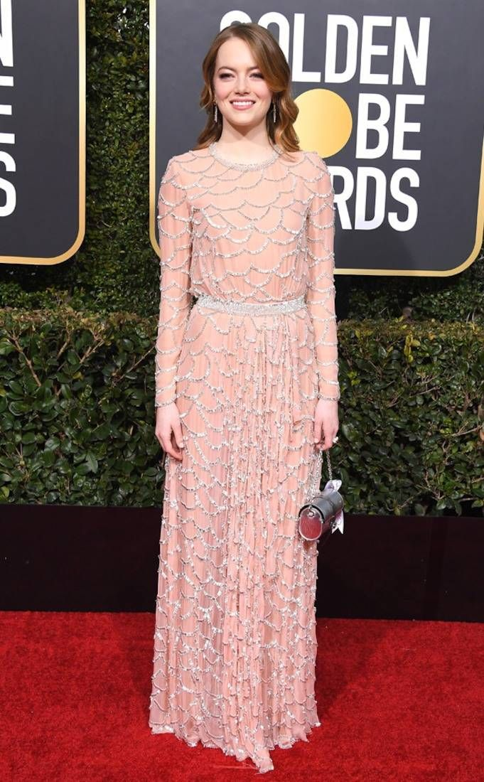 Emma Stone from 2019 Golden Globes Red Carpet