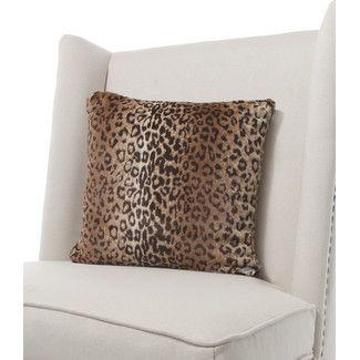 <strong>Little Giraffe</strong> Luxe Leopard Faux Fur Throw Pillow