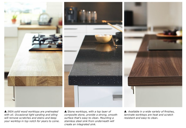 ikea countertops for the home pinterest butcher blocks the o 39 jays and islands. Black Bedroom Furniture Sets. Home Design Ideas