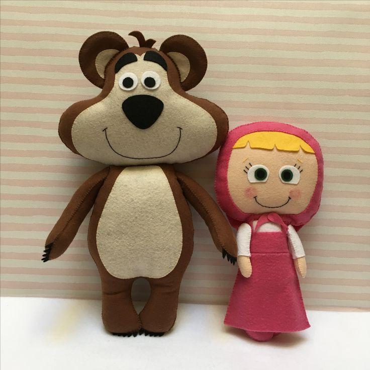 Masha e o Urso em feltro
