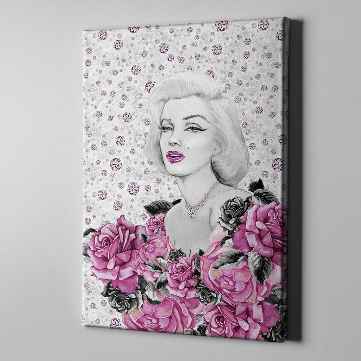 Marilyn on Diamonds Gallery Wrapped Canvas #BedroomIdeas