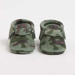 Camo Moccasins  Perfect, comfy shoes and so stylish for your little one to wear to our Baby Sensory California classes.  www.babysensorycalifornia.com