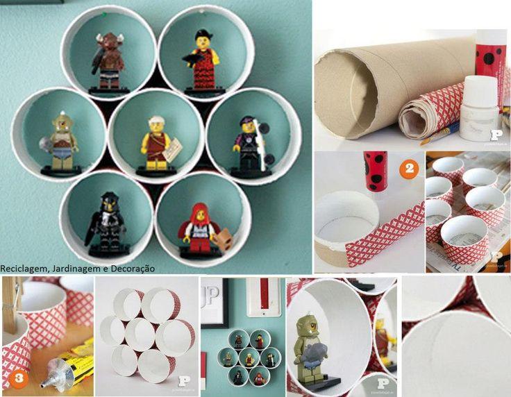 Contenedor o repiza con tubos de carton proyectos que - Manualidades con cajas ...