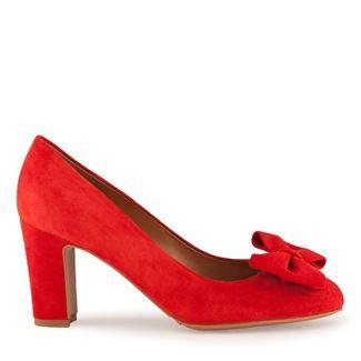 Pantofi dama rosii 2403 piele intoarsa
