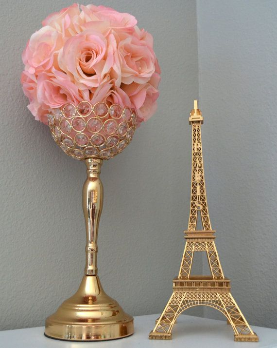 GOLD Eiffel Tower Centerpiece. Parisians Theme by KimeeKouture