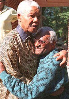 Desmond Tutu & Nelson Mandela, Johannesburg. I flew with Desmond Tutu from Cape Town to Joburg.