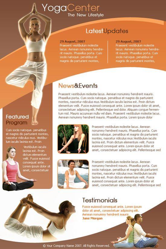 Yoga Newsletter Templates BoxedArt u003e Member Downloads u003e Email - church newsletter