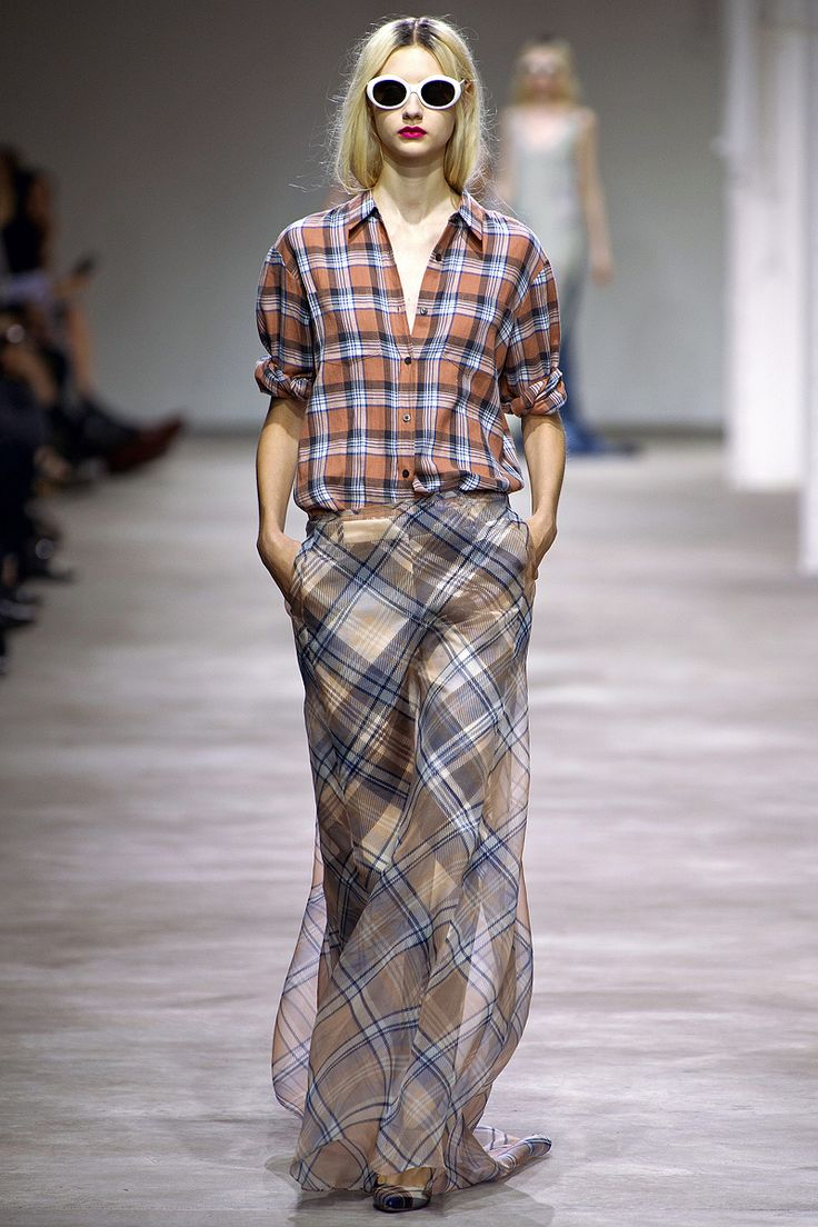 Dries Van Noten was all about the grunge fabulous for Spring in Paris '13. Can you say 'Teen Spirit?'