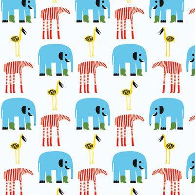 "Marimekko Marimekko II Karkulaiset 33' x 27.6"" Elephants Wallpaper | AllModern"