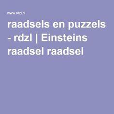 raadsels en puzzels - rdzl   Einsteins raadsel raadsel