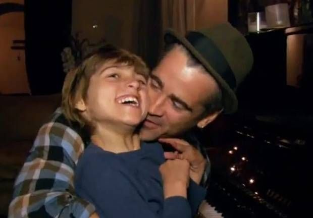 Colin Farrell Son James | Colin Farrell pictured with his son James who has Angelman Syndrome