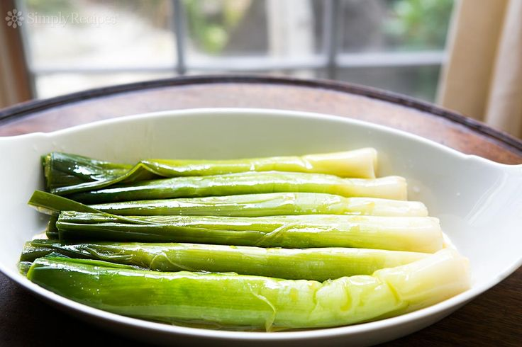 Leeks Vinaigrette ~ A French classic, whole leeks are boiled, drained, then marinated in a Dijon vinaigrette. ~ SimplyRecipes.com