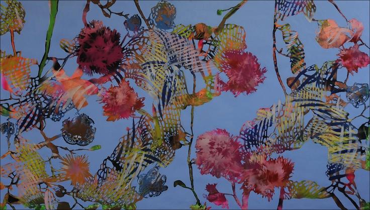 Oil and spray on canvas  120x180 cm